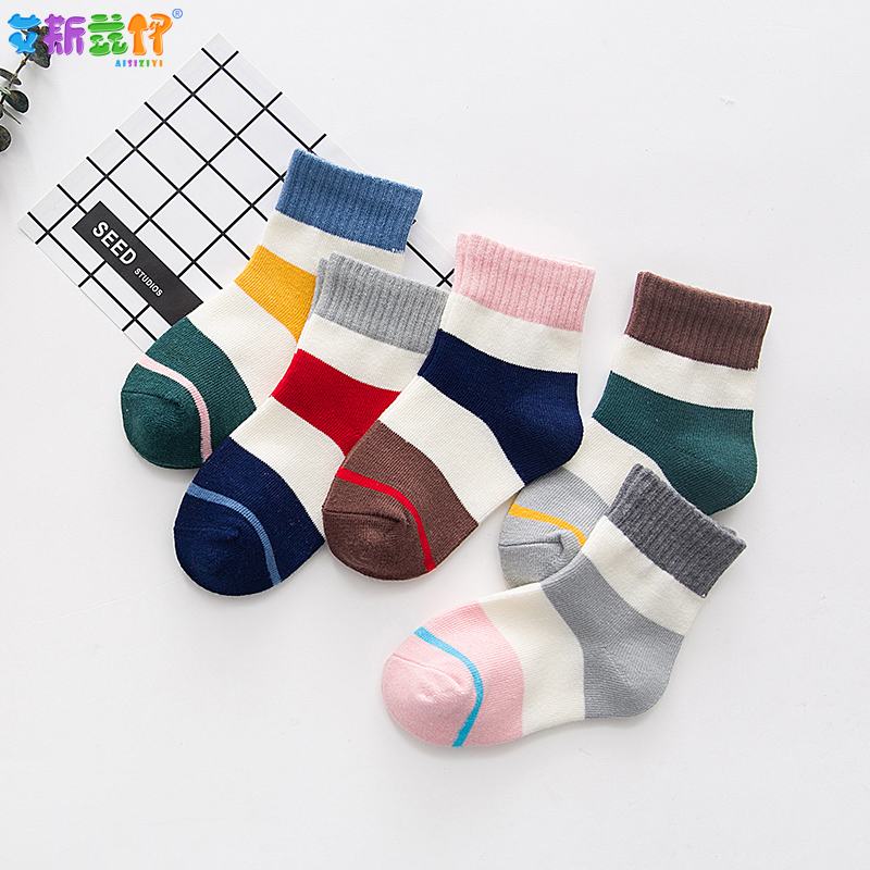 5pairs Kids Socks Baby Boys Girls Sokken Autumn Winter Football Children Toddler Socks Cotton Baby Stuff For Boy Sneaker Socks