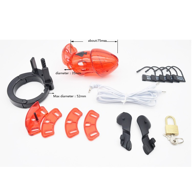 Electro-Red-Male-Chastity-Device-Cuff-Ring-A175-2