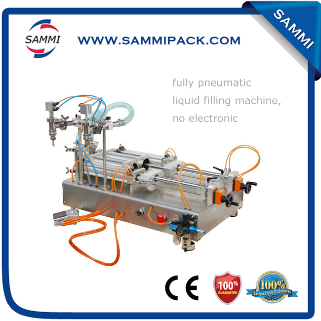 High accuracy double heads Liquid bottle filling machine
