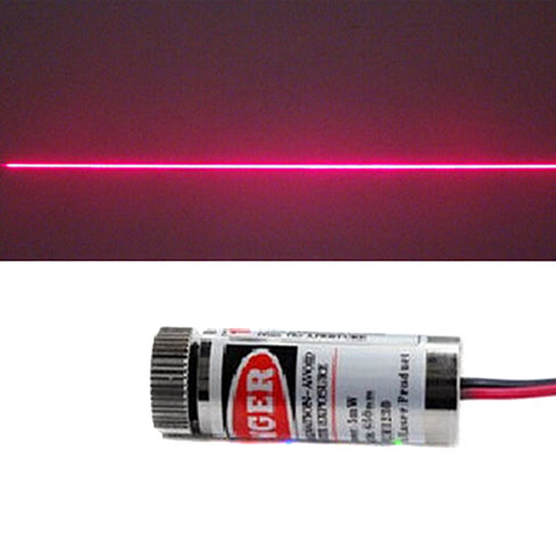 Módulo láser línea roja de alta calidad 5mW 650nm foco ajustable cabezal láser 5V grado Industrial P0.05 40m detector láser de alcance preciso, buscador de rango de mano, telémetro láser edificio, diastímetro Digital, cinta de medición