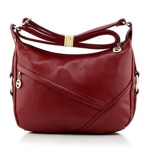 Image 4 - High Quality Retro Vintage Womens Genuine Leather Handbag,Women Leather Handbags ,Women Messenger Shoulder Bags Bolsas Feminina