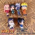 1 PCS caráter aleatório criança brinquedos Anime PVC Chaveiro Naruto Shippuden Sakura Kakashi Pingente Meninos Meninas Brinquedo de Presente Decoração