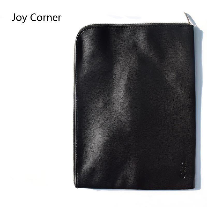 Joy Corner Drop Shipping Soft Document Bag Waterproof PU Leather File Folder Document Filing Bag Office Supplies 25*35 cm pineapple watermelon mango gridding waterproof zip bag document pen filing products pocket folder free ship office