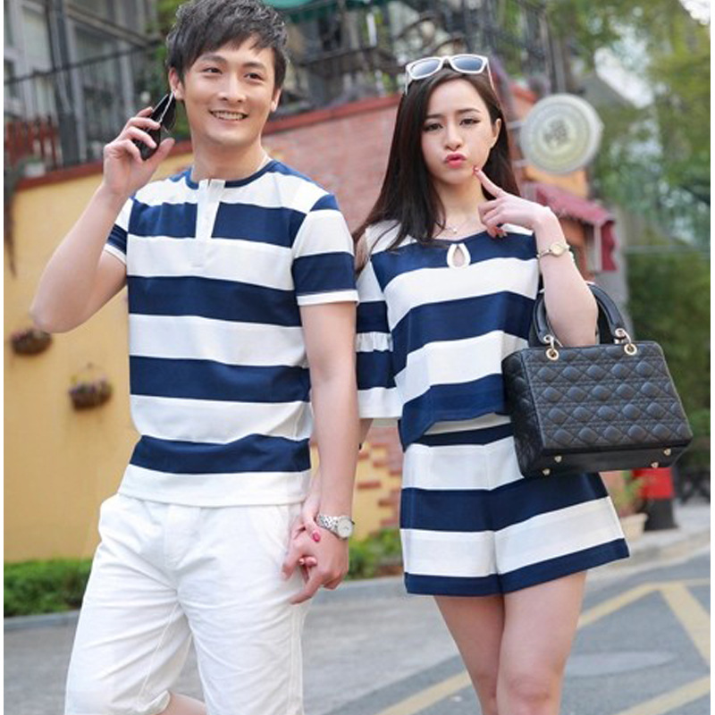 d6564ccd2 Family korean couple shirts fashion for beach for lovers sailor style  couple dress black matching couple clothes B528-in Matching Family Outfits  from Mother ...