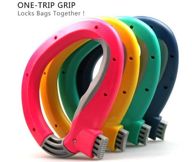one trip grip grocery bag holders locks bags together bearable 22.5kgs housewife necessary Environment-keeping,