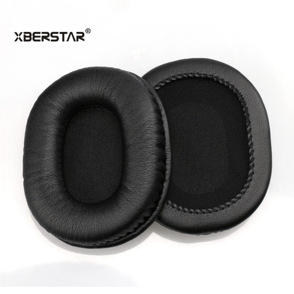 Replacement Protein Leather Ear Pads Cushion for Audio technica ATH-M40x M50 M50S M20 M30 M40