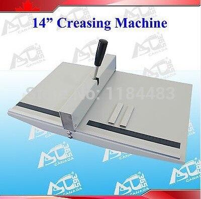 """Manual 14"""" Paper Scoring Creasing Machine Scorer Creaser +2 Magnetic Blocks"""