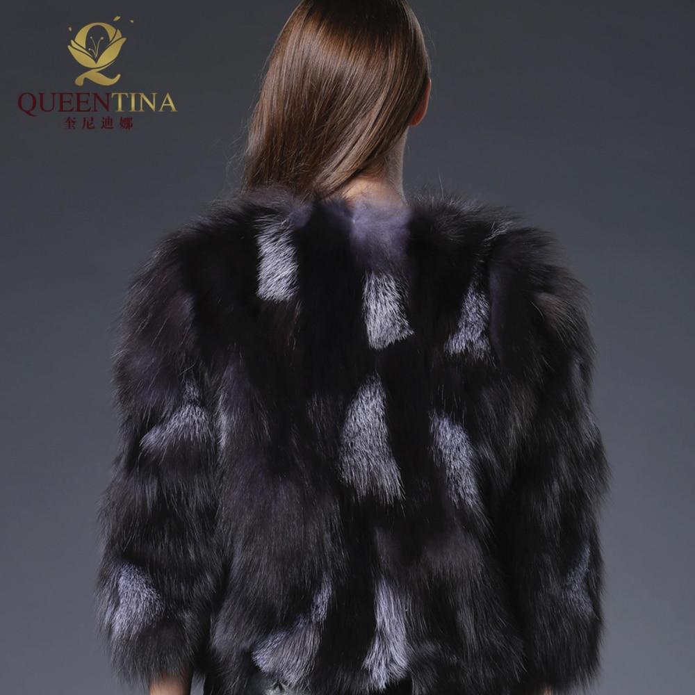 De Outwear Renard Hiver Manteau Court Fourrure Manteaux Véritable Femmes Élégant Gilet Mode Noir Chaud Réel Veste Eq64Bdw6