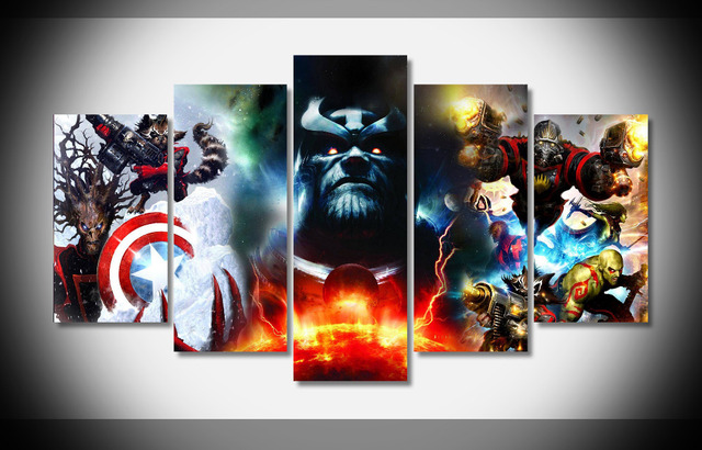 5310 Marvel Guardians Of The Galaxy Poster Framed Gallery Wrap Art Print Home Wall Decor
