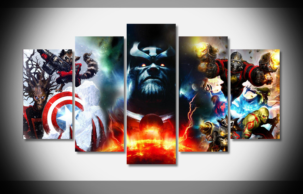 5310 Marvel Guardians Of The Galaxy Poster Poster Framed Gallery wrap art print home wall decor wall picture Already to hang