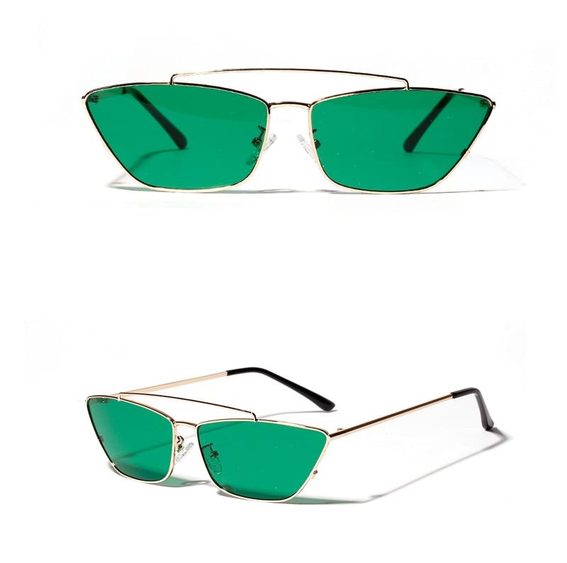 ladies cats eye sunglasses green lens detail (7)