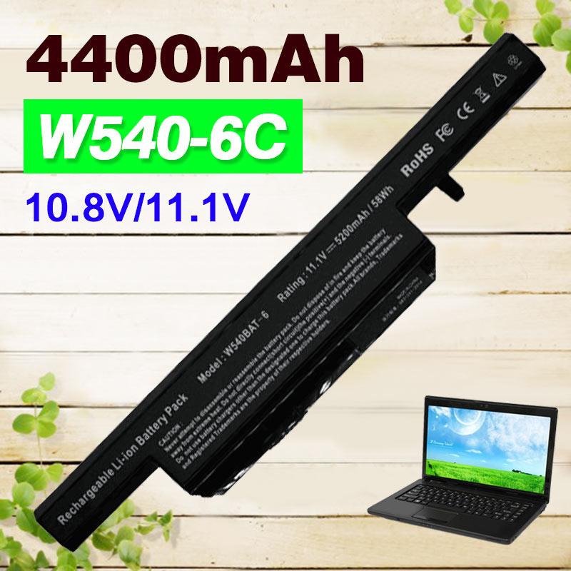 6 Cell New Laptop Battery For Clevo W540 W550 W55EU W540EU 6-87-W540S-427 W540BAT-6 W540BAT genuine w540bat 9 battery for clevo w550su1 w550tu 6 87 w540s 427 6 87 w540s 4271 6 87 w540s 4u4