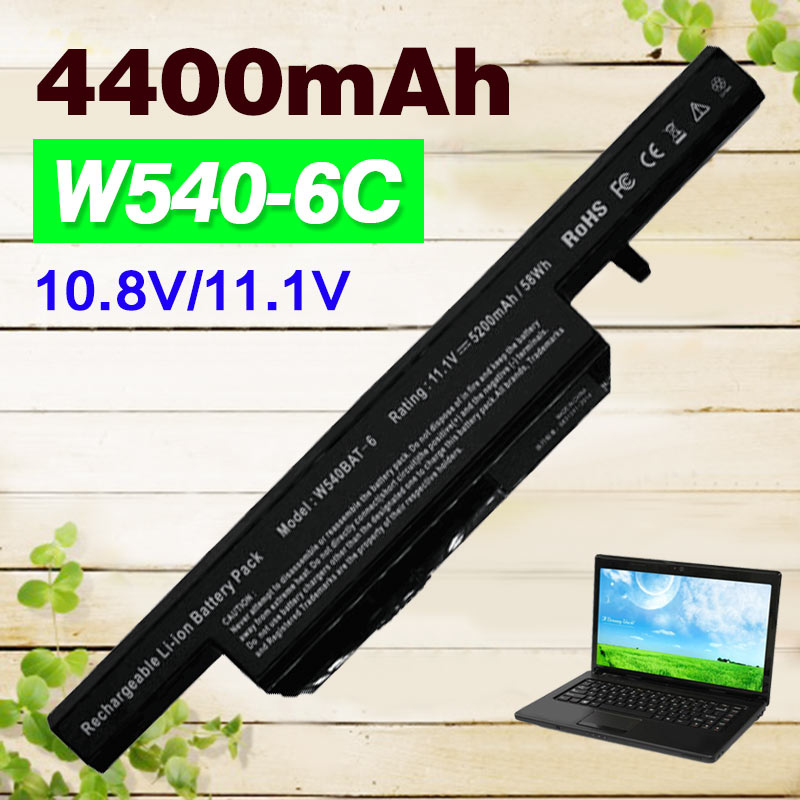 6 Cell New 4400mah 11.1v Laptop Battery For Clevo W540 W550 W55EU W540EU 6-87-W540S-427 W540BAT-6 W540BAT W551SU1 W550SU2 M1519 clevo w550eu w540bat 6 6 87 w540s 4271 6 87 w540s 4u4 6 87 w540s 4w42 6 87 w540s 427 battery