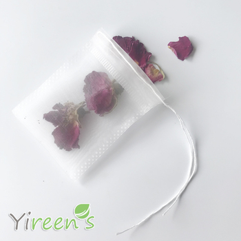 Free shipping! 1000pcs 50 X 60mm Nylon Tea pouch, wider sides, Transparent filter bags, Tea filters with threads, cute Gift bags