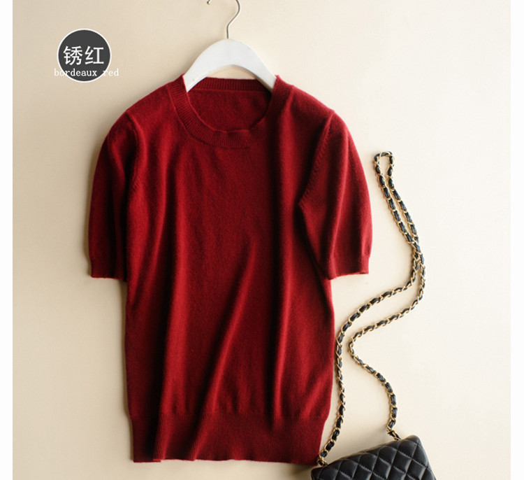 Ausverkauf kaschmir wolle mischung dünne stricken frauen mode t-shirt tops pullover tees pullover einfarbig S-3XL