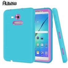 Para Samsung Galaxy Tab 3 Lite 7.0 SM-T110/T111 Caso Niños bebé Seguro Protector Híbrido PC + TPU Armor Duro de La Cubierta + Stylus pluma