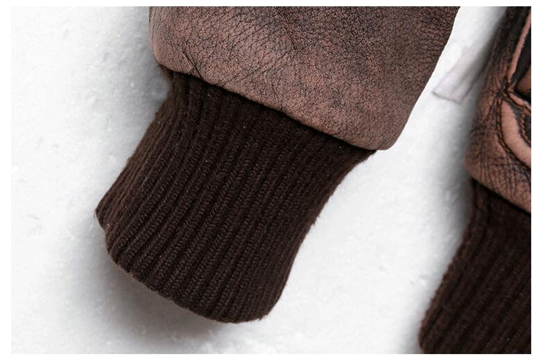 HTB1DMFrnMDD8KJjy0Fdq6AjvXXaT 2019 Vintage Brown Men A2 Pilot Leather Jacket Wool Collar Size XXL Genuine Thick Cowhide Russian Aviator Coat FREE SHIPPING