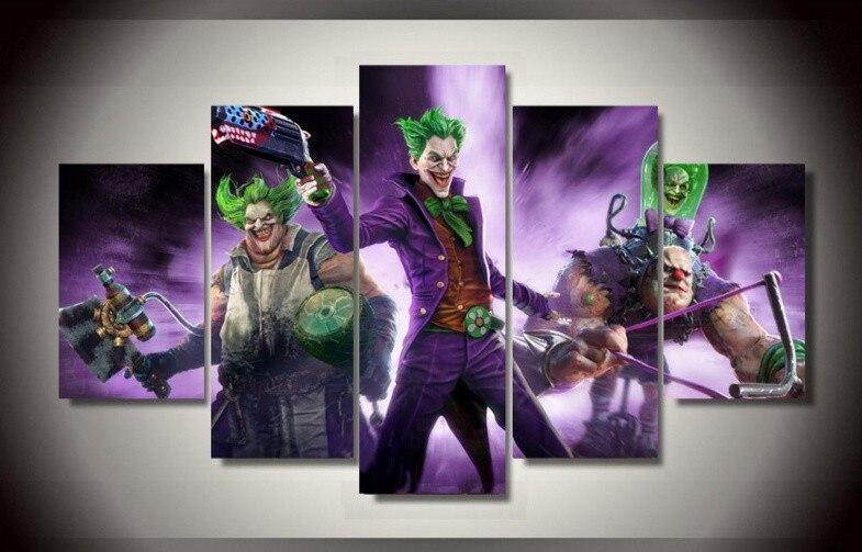 5 Piece Besar Gambar Dinding Lukisan Kaligrafi Batman Poster Joke