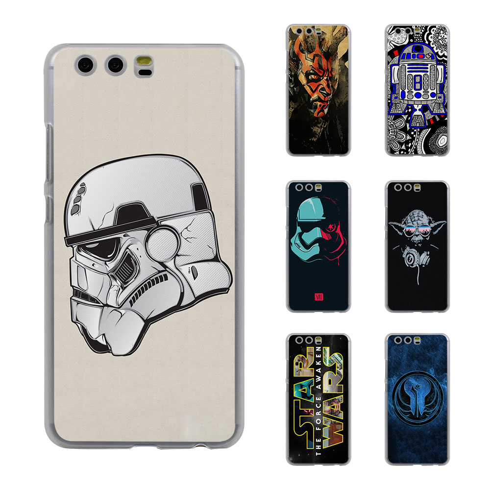 Star Wars Art Stormtrooper yoda DJ Style Thin transparent phone Cover Case for Huawei P10 P10lite P8 P9 lite Mate8 Mate9