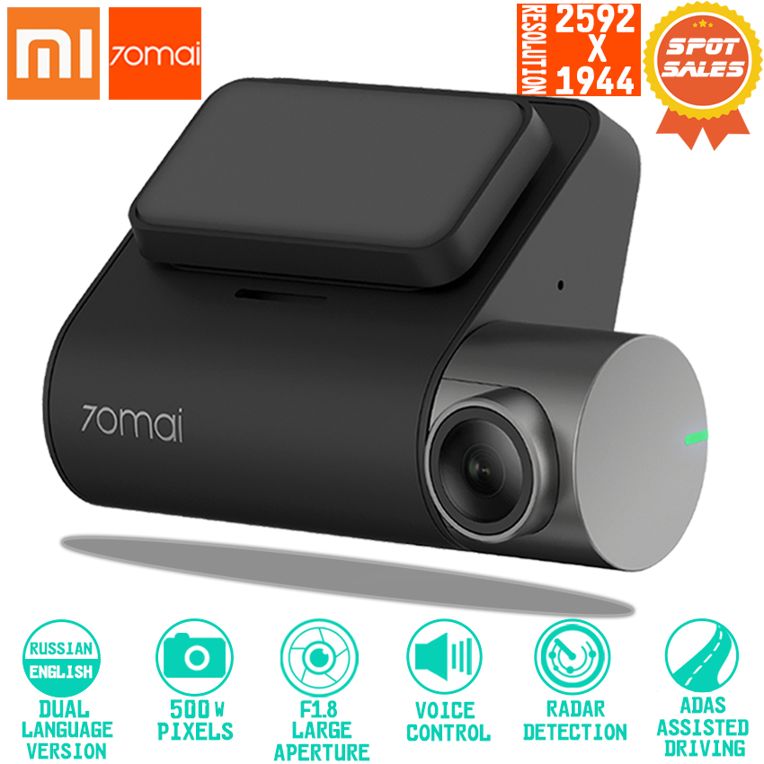Xiaomi 70mai Dash Cam Pro smart Car Camera 1994P HD Video Recording With WIFI Function Rear View Camera Vechile Parking Monito bamboo bamboo portable folding stool have small bench wooden fishing outdoor folding stool campstool train