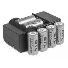 Details about 6x 2300mAh 16340 CR123A 3.7v Li-ion Rechargeable Battery + Smart Charger B172 GTL EvreFire