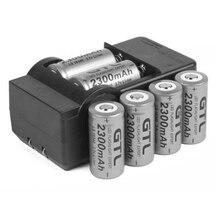 Details about 6x 2300mAh 16340 CR123A 3.7v Li-ion Rechargeable Battery + Smart C