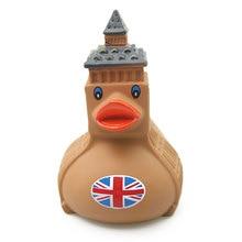 11cm creative rubber environmentally friendly cute British Big Ben Elizabeth Duck baby gift cognition series toy duck
