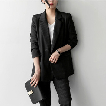 Spring and autumn long paragraph ladies small suit sleeves casual new fashion Slim jacket + pants lady