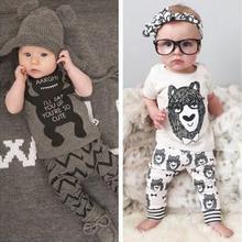 New Summer Baby Boy Clothes Kids Clothes Sets T-shirt+Pants Suit Clothing Set Cartoon Printed Clothes Newborn Sport Suits