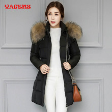 2017 NEW Fashion Winter jacket Women Long Style Parkas Coat  Slim Casual Winter Coat Women Warm Parkas Plus Size manteau femme