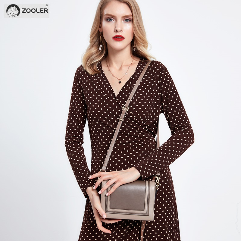 woman leather bags women ZOOLER 2019 new Cow leather bag women shoulder messenger bag luxury brand