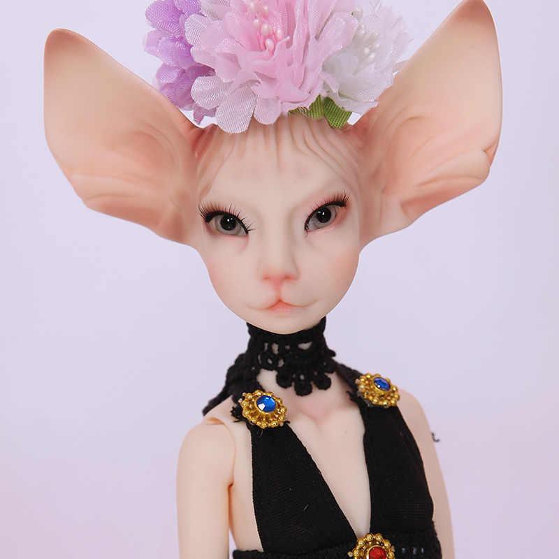 شحن مجاني دمية BJD Sphynx القط Lillycat قسطنطين نوبيلا Radicelle فريدة من نوعها جميلة الشكل لعب للأطفال الراتنج دمى لويدول