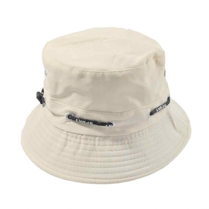 fff5a7339bfed2 Women Bucket hat Cotton Solid boy girl Bucket hat fisherman bush Panama Cap  gorra women Beach