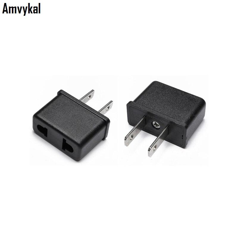 Amvykal Universal Travel AC Power Electrical Plug Adapter Converter EU To US Plug Adaptador Socket Connector 1000 Pcs/lot