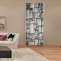 2 Pcs Set 3D Wall Door Stickers DIY Brick Wall Wall Mural Poster PVC Waterproof Stickers