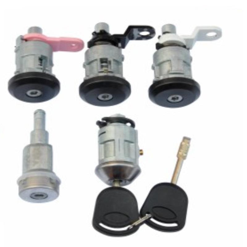 5pcs /set Complete Lock Kit For Ford Transit Automobile Anti-theft Auto Lock 95VBH22050TF