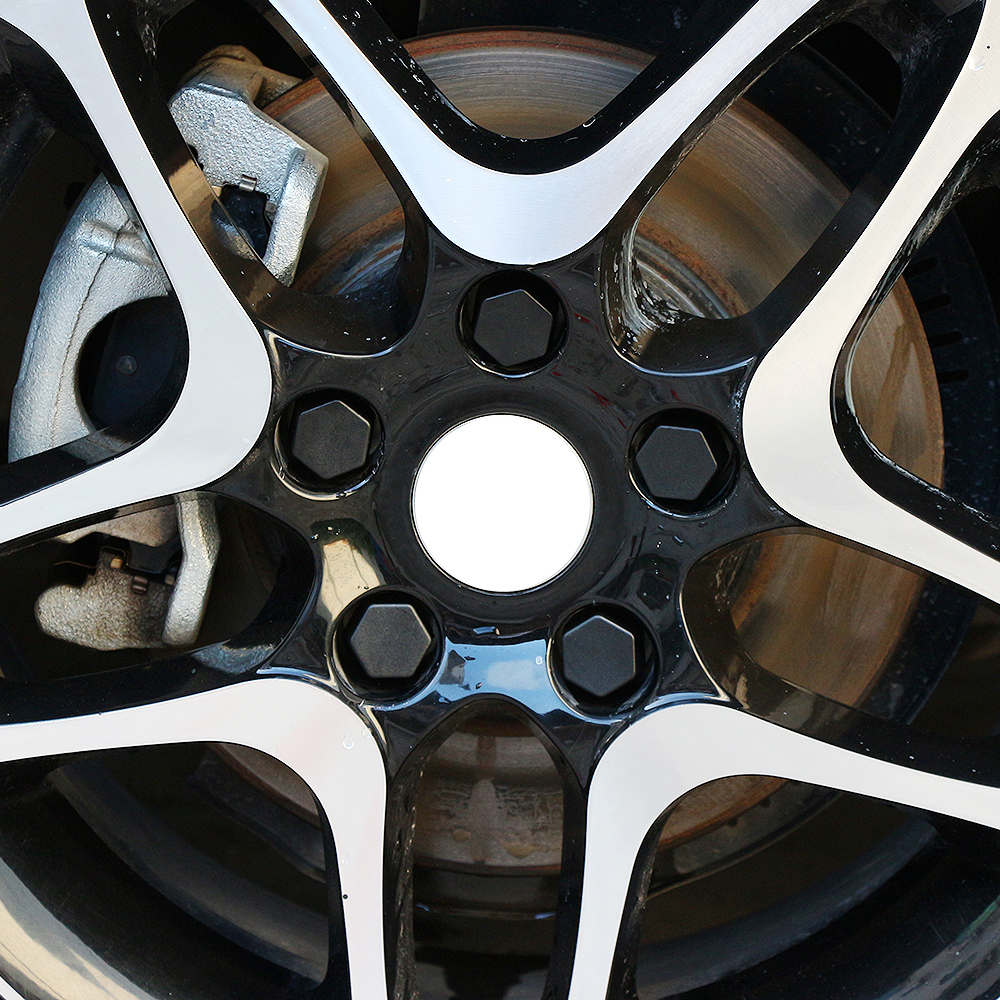 Set 20 19mm Black Car Caps Bolts Covers Wheel Nuts For Nissan Juke Micra