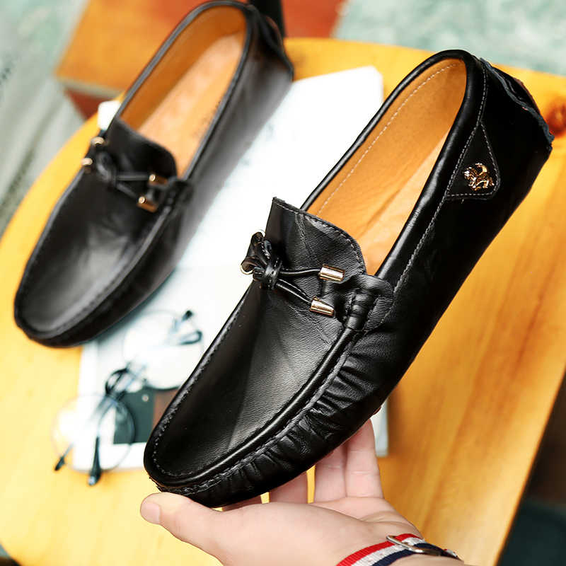 91172555f5c Sycatree Summer Male Genuine Leather Casual Shoes for Men Outdoor Sneakers  Flats Brand Breathable Ferrary Shoes