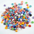 Hot Free Shipping 12mm 100pcs Mixed Colors Round flatback  Beads Ceramic Shiny Cabochon Flat back Gems DIY  Jewelry Craft
