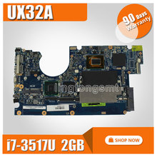 UX32A Laptop Motherboard for ASUS UX32VD rev2.4 2.2 Main board i7-3517u cpu integarted HD Graphics 4000 2GB RAM 100% Tested