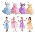 New Summer Kids Girls Dresses Children Girls Cinderella Rapunzel Aurora Belle Princess Dresses Baby Girls Halloween Xmas Costume