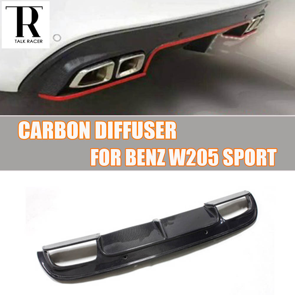 W205 Carbon Fiber Zadní nárazník Difuzor Spoiler pro Benz W205 Sedan S205 Wagon C180 C200 C300 C43 Sport nárazník 2015 - 2022