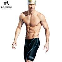 2017 LEBESI Professional Men Swimming Trunks Double Sided Waterproof Fifth Pants Swimwear Men's Swimsuits S 3XL Bathing Suit