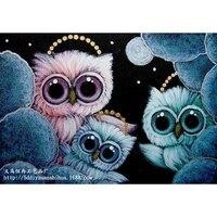 Три совы оптовая продажа DIY алмазные картины украшение стразами стены стикеры вышивка рукоделие WL045