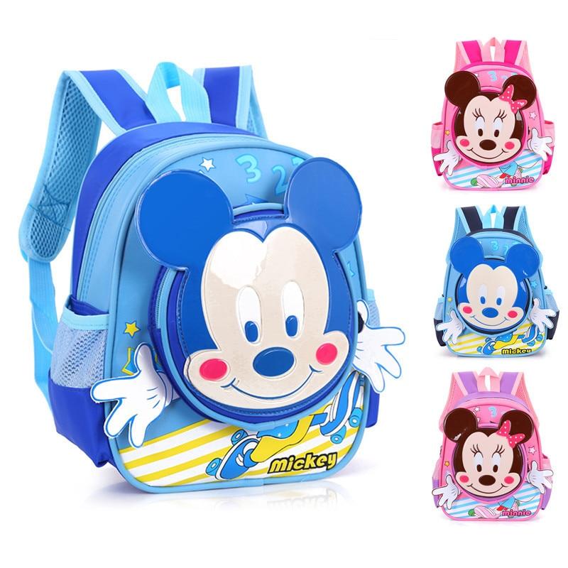 2017 new brand fashion cartoon mickey kindergarten font b backpack b font for boys school bags