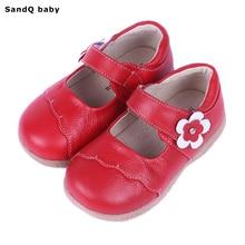 2016 Nouveau Automne En Cuir Véritable Enfants Chaussures pour Filles Fleur Enfants Casual Sneakers Bébé En Bas Âge Chaussures Filles Princesse Chaussures