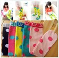 Wholesale Free shipping cotton candy Popkid princess stocking black,yellow,green,rose pink and pink color 10pairs/lot