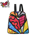 Purchase BRITTO Cartoon Graffiti  Backpack Leisure Laptop School Bags Travel Shoulder Bag