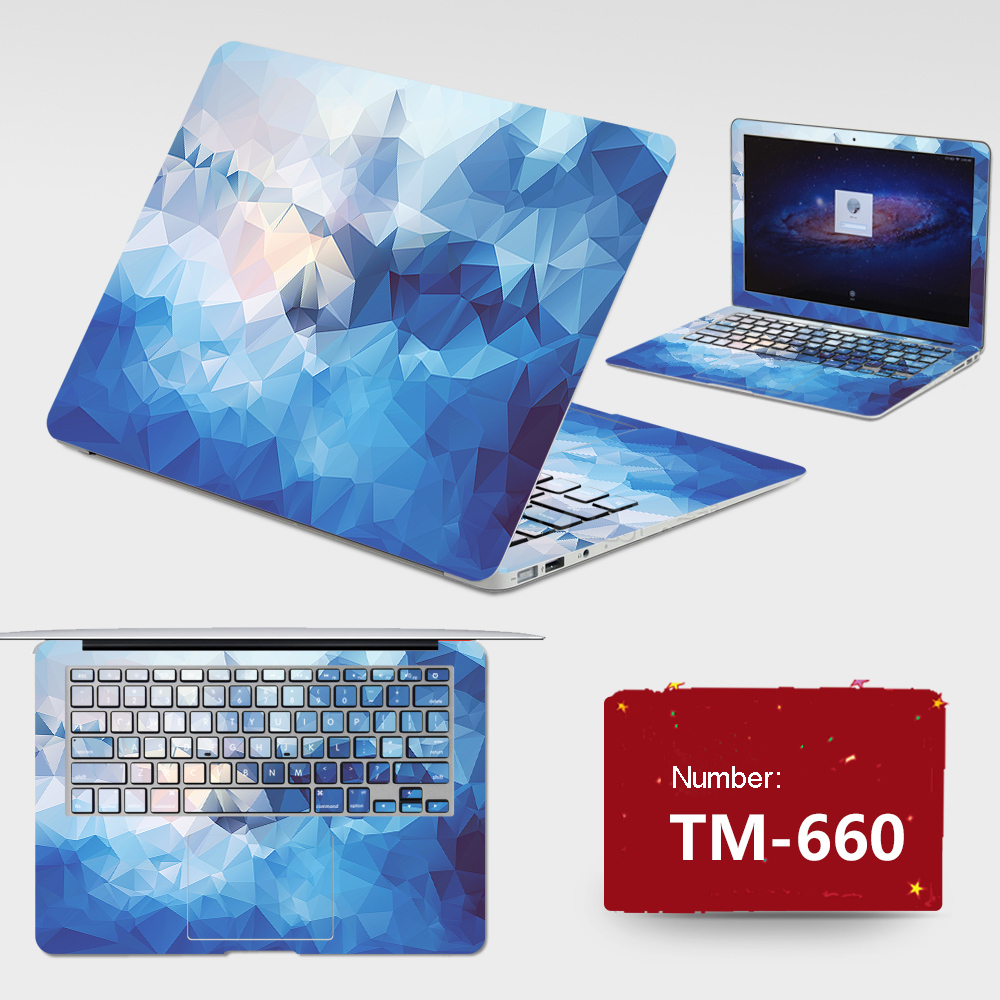 2017 High Quality Laptop Stickers All Cover PVC Skins Free Cutting ABC Sides+Keys+Key Interstice Stickers For Asus N56D Case