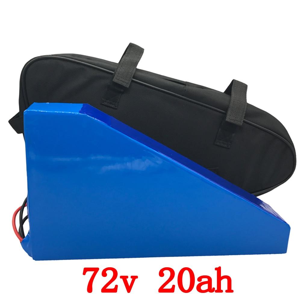 72V Triangle battery pack 72v 20ah lithium ion battery 72v 3000w electric bike battery use LG